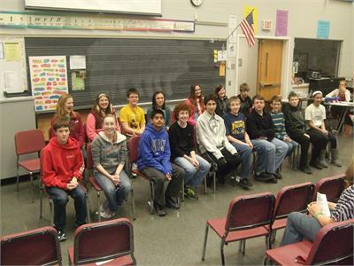 Participants in 21st Annual Geography Bee at OFMS