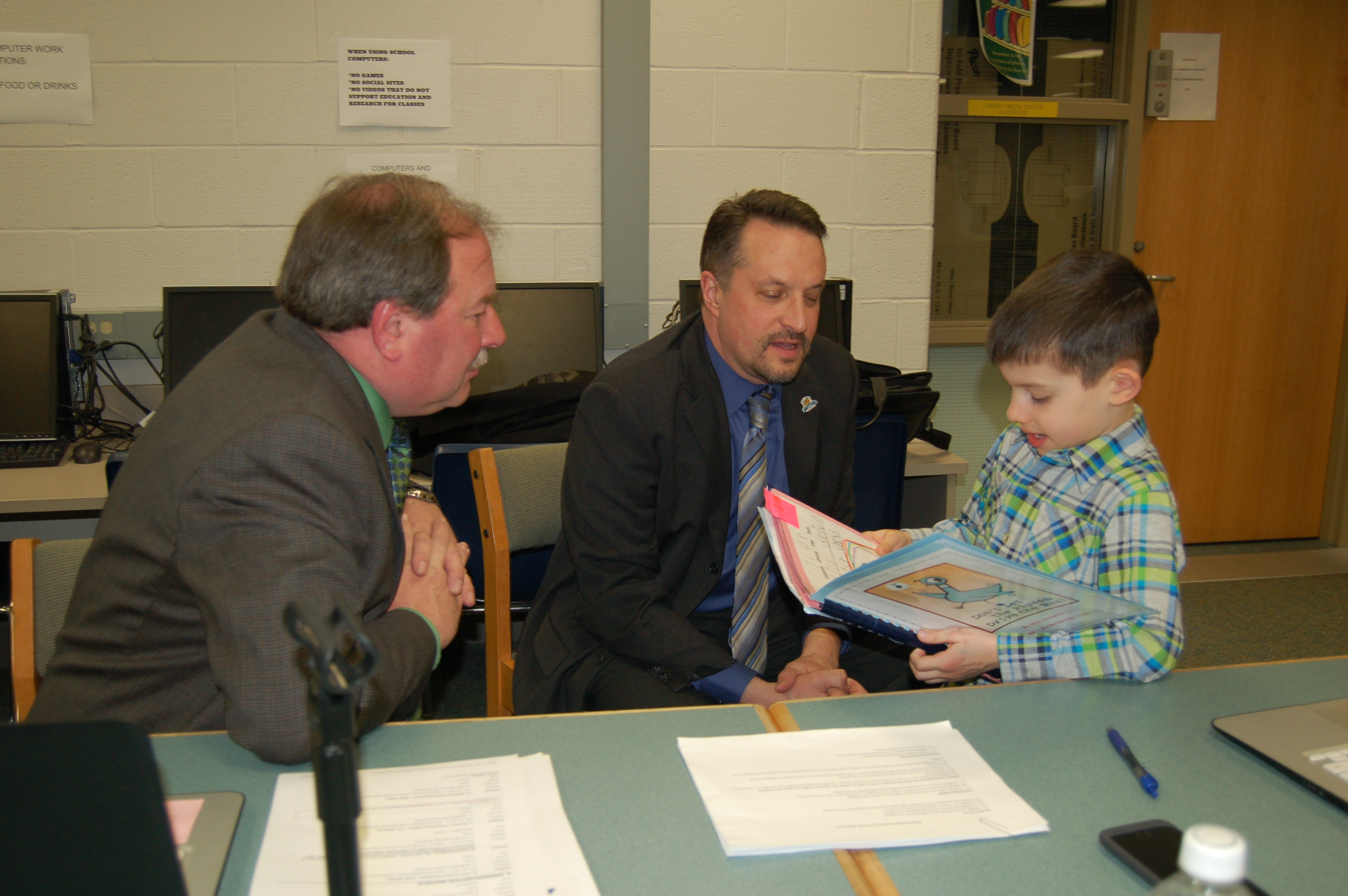 ECC reads with Olmsted Falls Board of Education