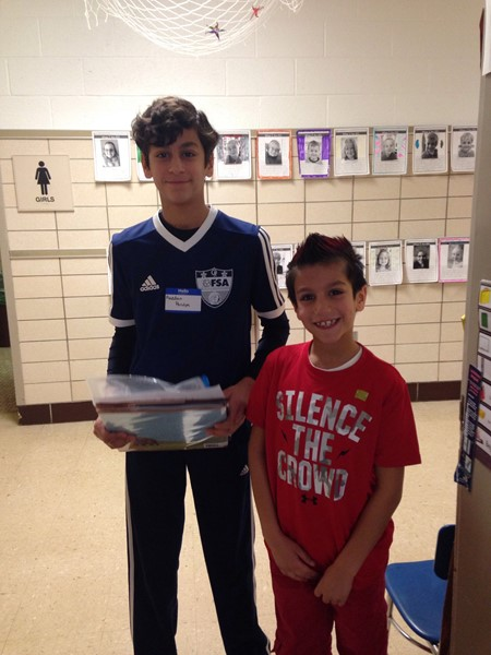 OFMS LEAD Students Read at Falls-Lenox