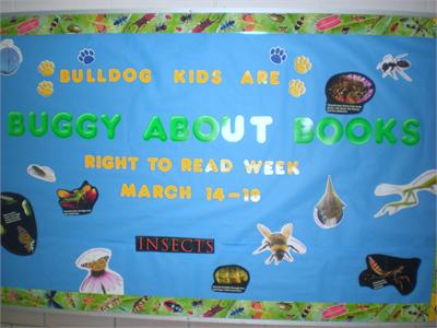 "Right To Read Week at ECC - ""Buggy About Books!"""