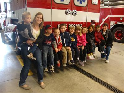 Preschool Field Trip to Olmsted Township Fire Station
