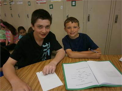Poetry Partnership (7th and 2nd Grades)