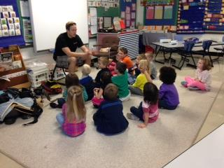 Firefighter Dave visits ECC