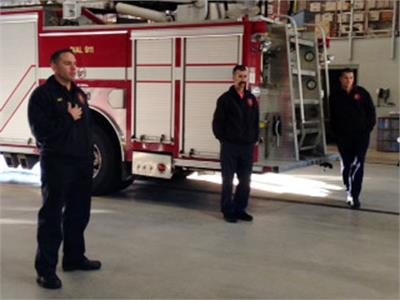 Kindergarten class visits Olmsted Township fire station