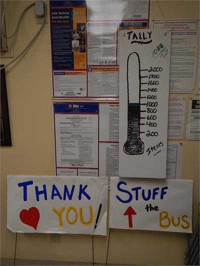 Stuff the Bus food drive